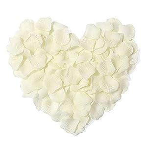 3000Pcs Pétalos de Rosa,Petalos Artificiales Confeti de Rosas Artificiales de Seda para Bodas, Fiestas, día de San…