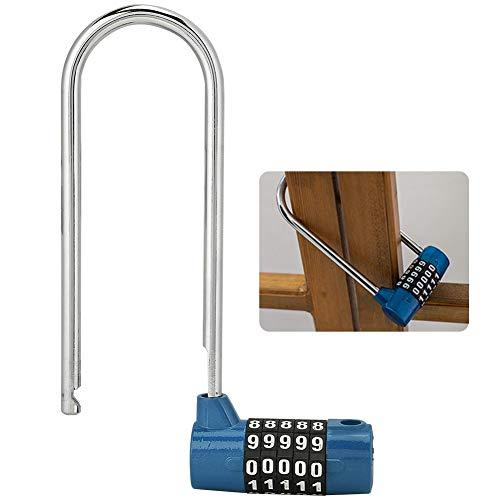 Verlengt lange roestvrijstalen sluiting, 5-cijferig cijferslot 116 mm combinatiesluiting, hangsloten met wachtwoord voor kasten, fitnessruimte, fiets, gereedschapskist