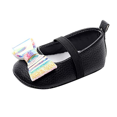 Zapatos De Bebé,Zapatos De Vestir De Lentejuelas Zapatos De Bowknot para NiñOs...