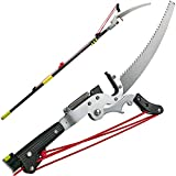 Best Pole Pruners - Happybuy Tree Pruner 5.4~17.7ft, Extendable Pole Saw Review