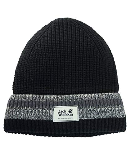 Jack Wolfskin Knit Unisex Casquettes Mixte Adulte, Black, FR : M (Taille Fabricant : M)