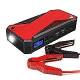 XINTONGSPP Terrinador de Salto de automóviles, Paquete de Refuerzo de batería de Emergencia de Salto de automóvil portátil de 16800 mAh con Salidas de Carga USB Dual, Linterna LED y brújula