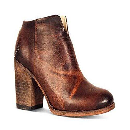 YSZDM dames enkellaars grote Sizeretro puntige hoge hak Lady laarzen geschikt voor alle soorten van bijpassende