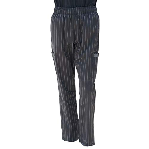 Chef Code Chef Pants, Chalkstripe Charcoal, 3X-Large