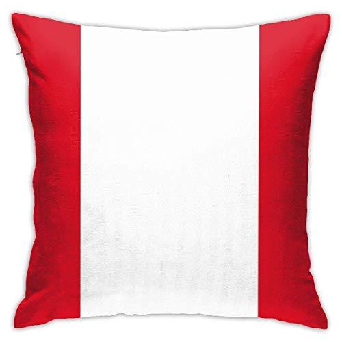 Ahdyr Throw Pillowcase Protectors Peru Flagge Peruanische Lima Tagesdecke Aufkleber Quadratischer Kissenbezug Throw Pillowcase Sofakissen Autokissen Innendekorationen Stuhl Kissenbezug