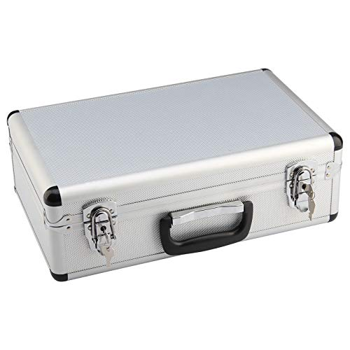 Universal Aluminum Flight Carry Case International Case with Removable Tool Pallet and Two Key Lock Latches and Foam Inside