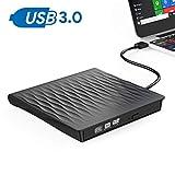 Grabadora DVD Externa, OUDEKAY USB 3.0 Unidad CD/DVD Externa Portátil con Diseño Antichoque Capacidad de Corrección de Errores Compatible con Win7/ Win8/ Win10/ XP/Vista/Linux/Mac OS (Negro)