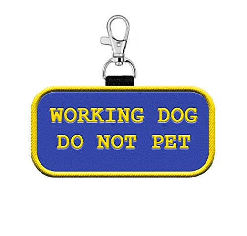 WORKINGSERVICEDOG.COM Working Dog Do Not Pet Clip on Identification Hanging Patch Tag - Clips onto a Service Dog Vest, Harness, Collar, Leash or Carrier.