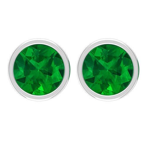 Rosec Jewels 750 oro rosa redonda Green Emerald