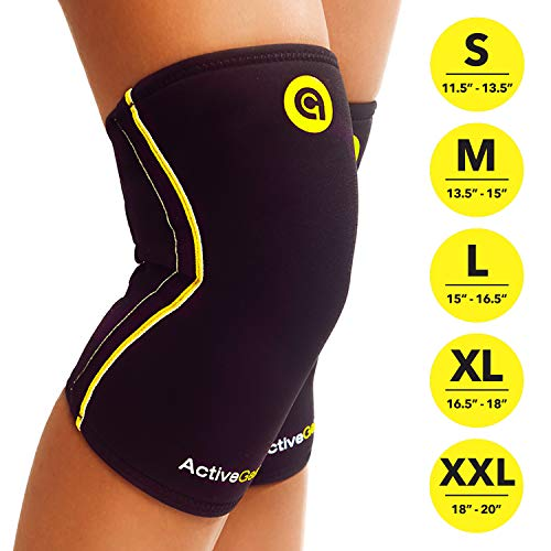 ActiveGear Knee Brace Support Heavy Duty Neoprene Sport Compression Sleeve (Extra Extra Large)