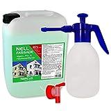 ABACUS 25 L Nell Fassade Fassadenreiniger & Grünbelagentferner mit 1,8 L Drucksprüher (7593)