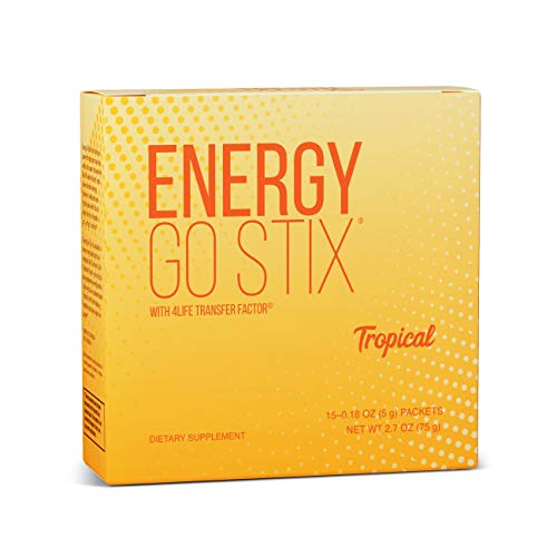 4Life - Energy Go Stix - Healthy Energy Source - Tropical - 15 Packets