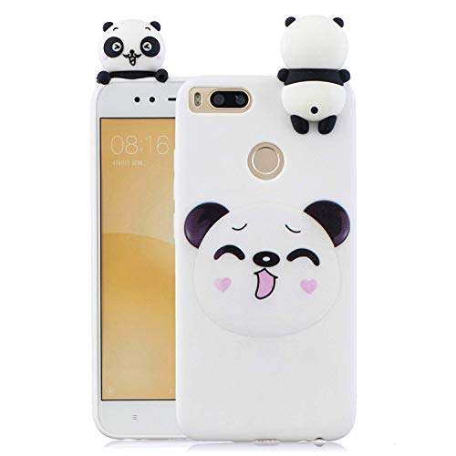 HongYong Case Compatible with Xiaomi Mi A1 / Mi 5X Soft TPU Silicone Smiling Panda Flexible Cute Animal Protective Back Cover Girly Matte Cover Protective Ultra Thin Slim Bumper One Piece Shockproof
