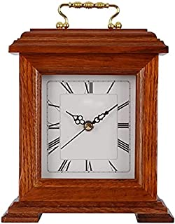 ساعة الجدول خمر عباءة ساعة الرومانية الأرقام الصامتة ساعة الكلاسيكية غرفة نوم كوارتز ساعة الجدول ساعة (Color : A)