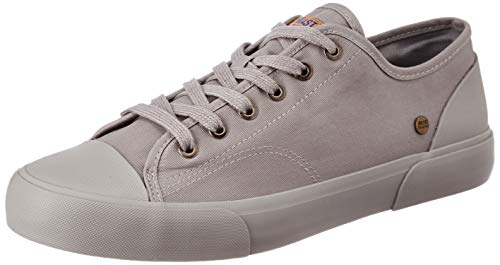 Amazon Brand - Inkast Denim Co. Men's Grey Canvas Sneakers-9 UK (AZ-IK-022B)