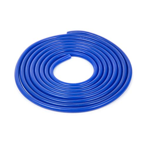 Shineyoo Silicone Vacuum Tubing Hose 10FT,ID 0.12'' (3mm), OD 0.27'' (7mm) Blue Color Vacuum Hose Roll High Performance