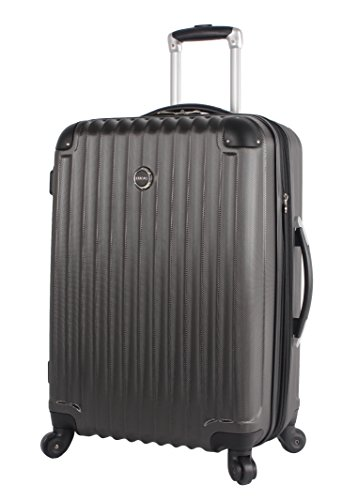 Lucas Outlander 28 Inch Luggage Collection -Expandable Scratch Resistant (ABS + PC) Hardside Suitcase- Lightweight Durable Checked Bag With 4-Rolling Spinner Wheels (Graphite)