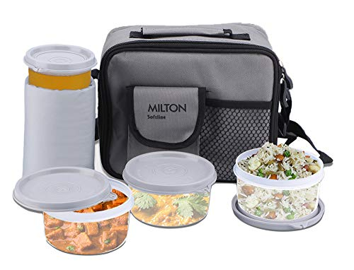 Milton Meal Combi Lunch Box Set, Grey,(EC-SOF-FST-0008_GREY)