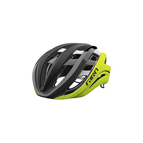 Giro Aether Spherical Adult Road Bike Helmet - Matte Black Fade/Highlight Yellow (2021) - Medium (55-59 cm)