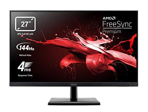 Acer EG270Pbipx Monitor Gaming FreeSync Premium 27 , Display IPS FHD, 144 Hz, 4 ms, 16:9, HDMI 2.0, DP 1.2, Lum 250 cd m2, Audio out, ZeroFrame, Cavi HDMI Incluso, Nero