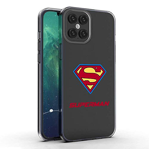 2020 Latest Case for iPhone 12/iPhone 12 pro Phone Suitable for iPhone 12/iPhone 12 pro Transparent Silicone Mobile Phone Case Compatible with iPhone 12/iPhone 12 pro Anti-Collision case(Superman)