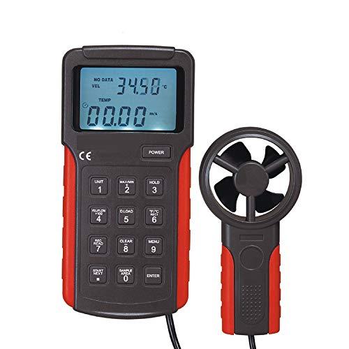 ZHLZH Anemómetro/Medidor de Velocidad Viento Aire/Aire Medidor, Anemómetro de Mano Anemómetro de Tipo Partido