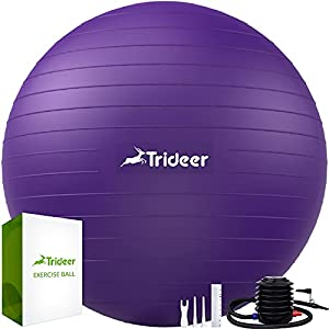 Trideer Exercise Ball (45-85cm) Extra Thick Yoga Ball Chair,