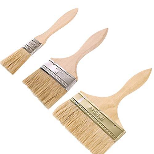 3er Pack Gebäck pinsel Backen Werkzeuge Grillbürste mit Holz Griff Ölbürste Kuchen Bürste für BBQ Küchenpinsel