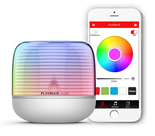 MiPow Playbulb Candle 2 - LED-Teelicht mit App-Steuerung (Bluetooth), kabellos über Batterie (3xAA), über 16 Millionen Farben und Effekte