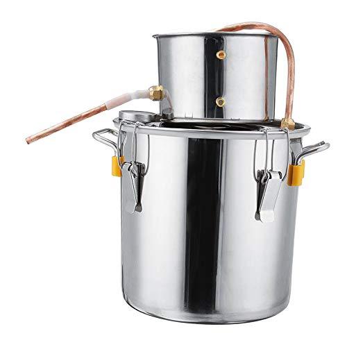 N/A/a Destilador de Cerveza Artesanal eficiente, Kit de elaboración de Aceite Esencial para Principiantes y Profesionales - 8L