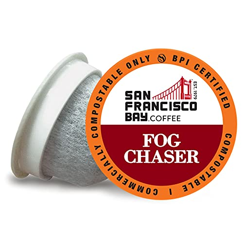 SF Bay Coffee OneCUP Fog Chaser 120 Ct Medium Dark Roast Compostable Coffee Pods, K Cup Compatible including Keurig 2.0