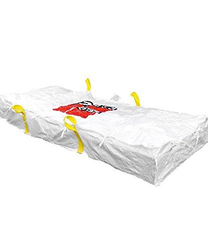 Desabag 1.2011 Plattenbag 320x125x30cm,BB, Warndruck Asbest, SDG, 1500 kg, Weiss