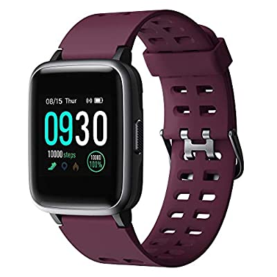 Willful Smart Watch for Android Phones Compatible iPhone Samsung IP68 Swimming Waterproof Smartwatch Sports Watch Fitness Tracker Heart Rate Monitor Digital Watch Smart Watches for Men Women Purple from YMY Direct