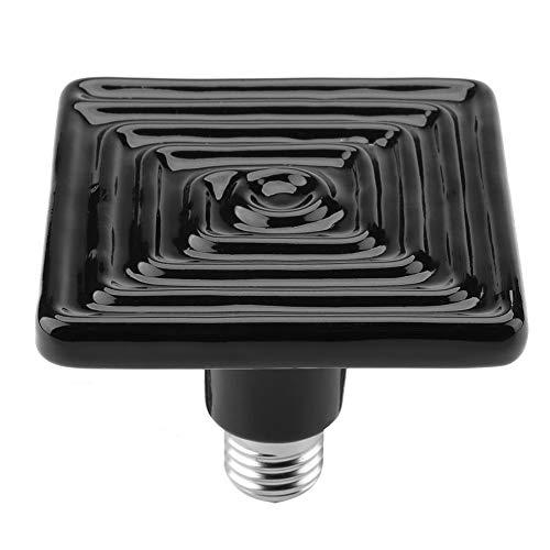 Goick Lampada con emettitore a Sfera di Calore in Ceramica con emettitore a bulbo Termico Incubatrice per Animali Domestici Rettile 220V-230V(250W)