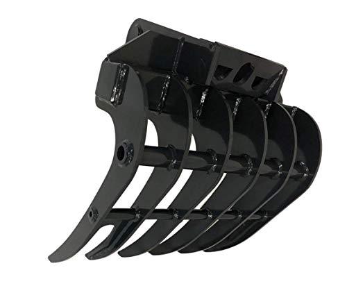 Joma-Tech Roderechen proLine aus Hardox für Minibagger 6 Zinken Baggeraufnahme MS03