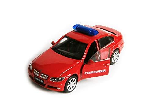Welly 330i Polizei Feuerwehr Notarzt Auto Modell Modellauto Metal Spielzeugauto 3-Varianten Geschenk 11 (Feuerwehr)