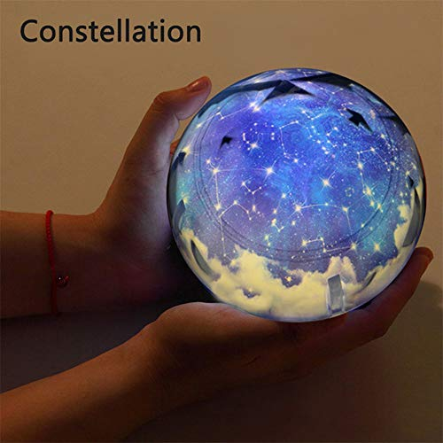 YDJGY Ciel éToilé Night Light Planet Magic Projecteur Terre Univers LED Lampe Coloré Rotation Clignotant Star Enfants BéBé Cadeau NoëL