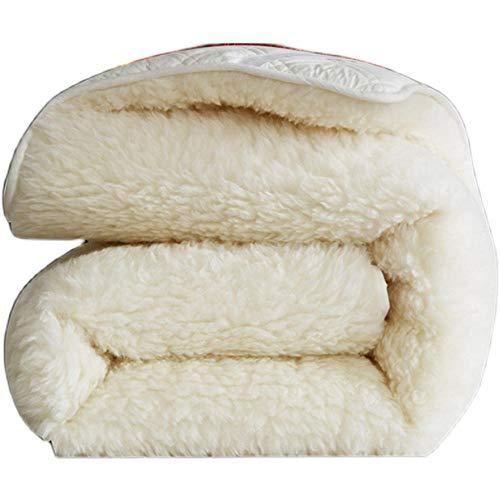 RHYNB Winter Reine Baumwolle warme Wolle Matratze einfach und doppelt dick Faltbare...