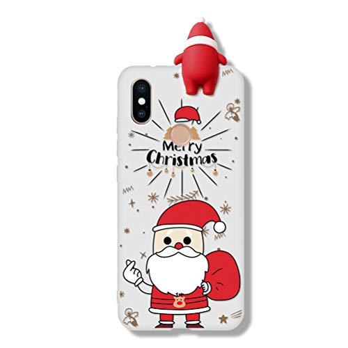 ZhuoFan Funda para Xiaomi Redmi Note 8 Pro, Cárcasa Silicona 3D Muñecas con Dibujos Navidad Diseño Suave Gel TPU...