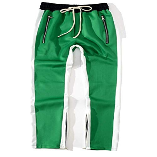 Pantalons de survêtement pour Hommes Pantalons de Sport décontractés Pantalon de Jogging Cordon de Taille Pantalon de survêtement avec Poignets à Ourlet Ouvert