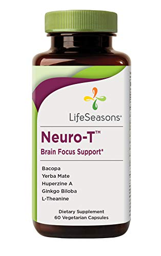Life Seasons - Neuro-T - Concentration and Focus Supplement - All Ages - Nootropics Brain Formula Improves Mood and Mind - Memory Enhancer - Yerba Mate, Huperzine A, Ginkgo Biloba -(60 Capsules)