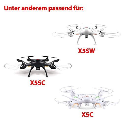 Himoto HSP Original Akku für Quadcopter Syma X5C, X5SC und X5SW mit 800mAh 3.7V, Power Upgrade-Ersatzakku mit 2-poligem Anschluss, Ersatzteil für Drohne, Quadrocopter, Hubschrauber