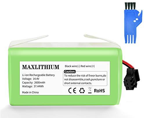 maxlithium Batería Compatible con Conga Excellence 990 950 1090 Deebot N79 Eufy RoboVac 11 11S 30 30C 12 35C, 14.4V 2600mAh...