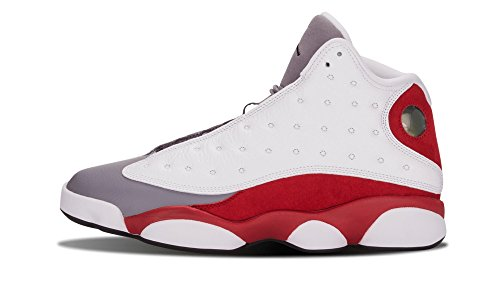Nike Herren Air Jordan 13 Retro Fitnessschuhe, Weiß/Schwarz/Rot/Grau (White Black True Red Cmnt Grey), 40 EU