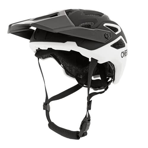 O\'NEAL | Mountainbike-Helm | Enduro Trail Downhill | Schweißabsorbierendes Innenfutter, erfüllt Sicherheitsnorm EN1078 | Helmet Pike Solid | Erwachsene | Schwarz Weiß | Größe S/M