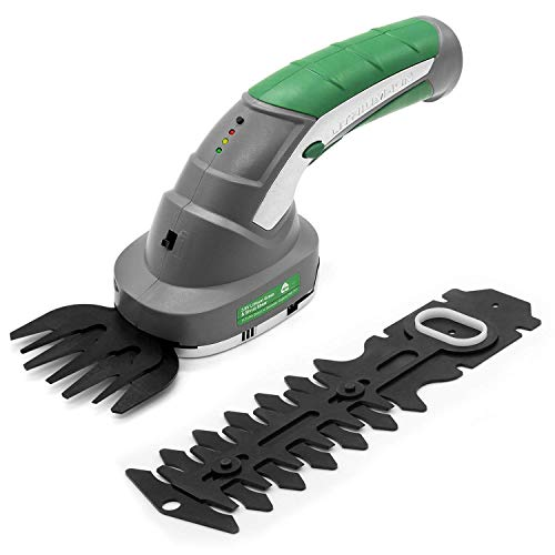Gracious Gardens 2 IN 1 3.6V Cordless Electric Hedge Trimmer Built in Lithium Ion Battery, Topiary Shears, Hand Held Trimmer, Cordless Shears Ideal for Shrub, Garden, Grass or Lawn Cultivation - USB Cable - No USB Plug Included