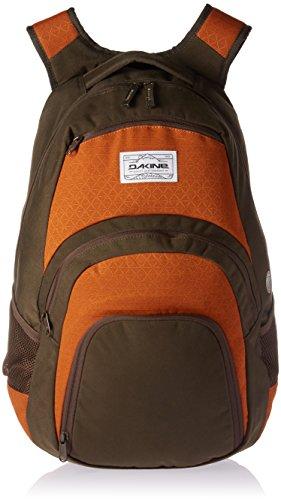 'DAKINE Campus 33L Polyester Olive, orange Rucksack–Rucksäcke (Polyester, Olive, Orange, Muster, 600D, Unisex, 38,1cm (15))