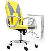 Smugchair Gaming Chair Ergonomic Office Chair Desk Chair Executive Bonded Leather Computer Chair, Yellow