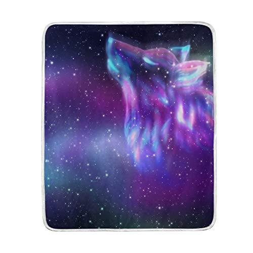 Wolf Galaxy Pixie Froid Noir Sherpa PELUCHE Plaid couverture polaire lit canapé canapé