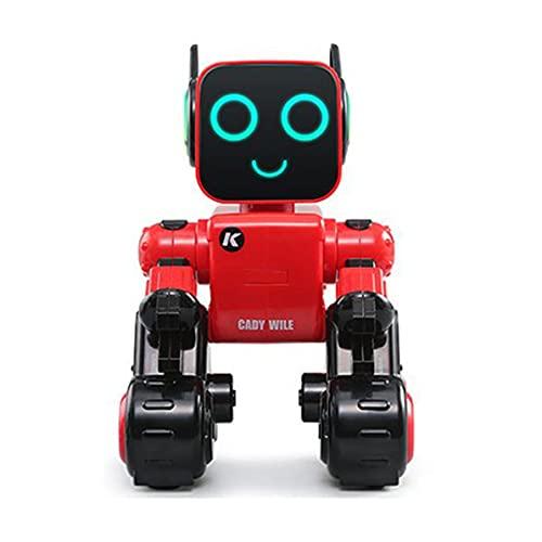 Rendeyuan Robot Inteligente Juguete Interactivo Canto y Baile Ciencia Matemáticas Programación de acción Operación de aplicación móvil - Rojo